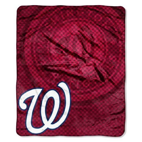 """Washington Nationals 50""""x60"""" Retro Style Royal Plush Raschel Throw Blanket"""