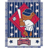 "Washington Nationals 36""x48"" Woven Baby Throw Blanket"