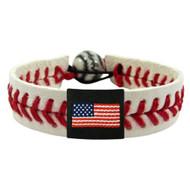 American Flag Baseball Bracelet