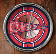 Atlanta Hawks Chrome Wall Clock