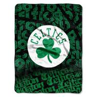 "Boston Celtics 46"" x 60"" Micro Raschel Throw Blanket - Redux Design"