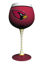 Arizona Cardinals Artisan Wine Glass