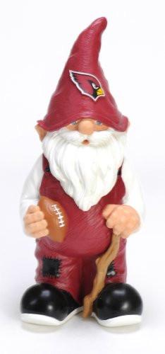 "Arizona Cardinals Garden Gnome 11"" Male"