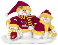 Arizona Cardinals Table Top Snow Family