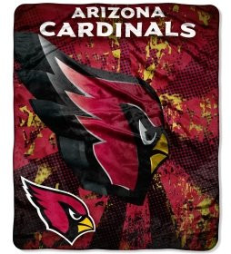 "Arizona Cardinals 46"" x 60"" Micro Raschel Throw Blanket - Grunge Design"