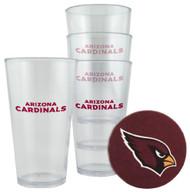 Arizona Cardinals Plastic Pint Glass Set
