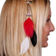 Arizona Cardinals Team Color Feather Hair Clip