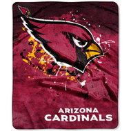 "Arizona Cardinals 50""x60"" Fade Style Royal Plush Raschel Throw Blanket"
