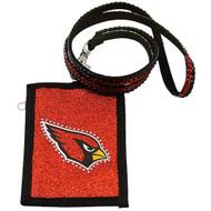 Arizona Cardinals Beaded Lanyard Wallet