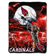 "Arizona Cardinals 60""x80"" Royal Plush Raschel Throw Blanket - Sky Helmet Style"