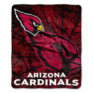 "Arizona Cardinals 50""x60"" Roll Out Design Royal Plush Raschel Throw Blanket"