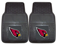 Arizona Cardinals Heavy Duty Vinyl Front Seat 2 Piece Car Mat Set