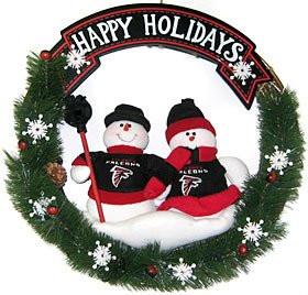 "Atlanta Falcons 20"" Team Snowman Wreath"