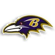 "Baltimore Ravens 12"" Left Logo Car Magnet"