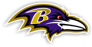 "Baltimore Ravens 12"" Right Logo Car Magnet"