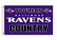Baltimore Ravens 3'x5' Country Design Flag
