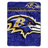 "Baltimore Ravens 46"" x 60"" Micro Raschel Throw Blanket - Livin' Large Design"