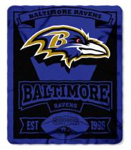 Baltimore Ravens 50x60 Fleece Blanket - Marque Design