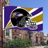 Baltimore Ravens 3'x5' Helmet Design Flag