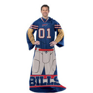 Buffalo Bills Comfy Throw Blanket With Sleeves - Player Design