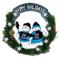 "Carolina Panthers 20"" Team Snowman Wreath"