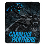 "Carolina Panthers 50""x60"" Roll Out Design Royal Plush Raschel Throw Blanket"