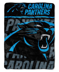 "Carolina Panthers 46"" x 60"" Micro Raschel Throw Blanket - Livin' Large Design"
