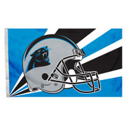 Carolina Panthers 3'x5' Helmet Design Flag