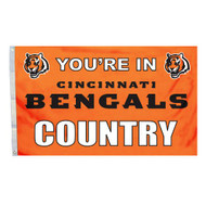 Cincinnati Bengals 3'x5' Country Design Flag