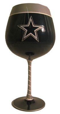 Dallas Cowboys Artisan Wine Glass