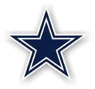 "Dallas Cowboys 12"" Logo Car Magnet"