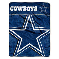 "Dallas Cowboys 46"" x 60"" Micro Raschel Throw Blanket - Livin' Large Design"