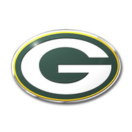 Green Bay Packers Color Auto Emblem - Die Cut