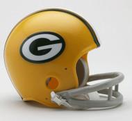 Green Bay Packers 1961-79 2-Bar Throwback Replica Mini Helmet