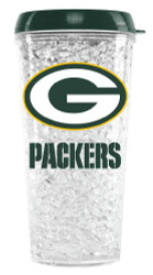 Green Bay Packers Crystal Freezer Travel Tumbler