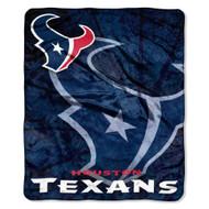 "Houston Texans 50""x60"" Roll Out Style Royal Plush Raschel Throw Blanket"