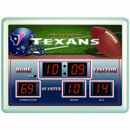 "Houston Texans Clock - 14""x19"" Scoreboard"