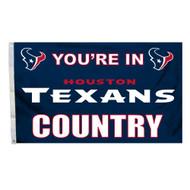 Houston Texans 3'x5' Country Design Flag