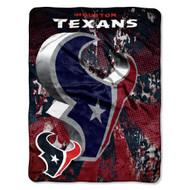 "Houston Texans 46"" x 60"" Micro Raschel Throw Blanket - Livin' Large Design"