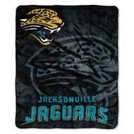 "Jacksonville Jaguars 50""x60"" Roll Out Style Royal Plush Raschel Throw Blanket"