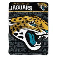 "Jacksonville Jaguars 46"" x 60"" Micro Raschel Throw Blanket - Livin' Large Design"