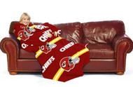 Kansas City Chiefs Comfy Throw Blanket With Sleeves