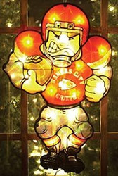 """Kansas City Chiefs 20"""" Double Sided Window Light-Up Player"""