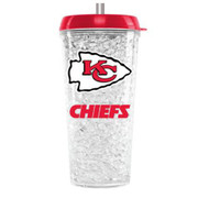 Kansas City Chiefs Crystal Freezer Travel Tumbler