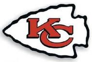 """Kansas City Chiefs 12"""" Left Logo Car Magnet"""