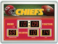 "Kansas City Chiefs Clock - 14""x19"" Scoreboard"