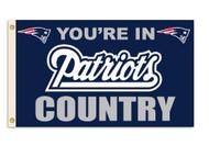 New England Patriots 3'x5' Country Design Flag
