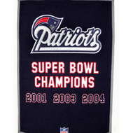 "New England Patriots 24""x36"" Wool Dynasty Banner"
