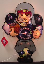 """New England Patriots 20"""" Double Sided Window Light-Up Player"""