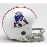 New England Patriots 1965-81 2-Bar Throwback Replica Mini Helmet
